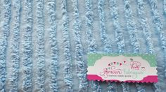 """Vintage Chenille Fabric/18""""x 24""""/Sweet Plush Ribbed Blue lines/ Bedspread fabric for Quilting projects/ 195o's by AmourFabriQues on Etsy"""