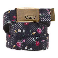 86209e8f7fd Floral Dots Fortified Reversible Web Belt Vans Logo