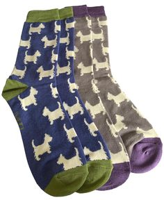 2 pair pack of Men's socks with a Westie Dog pattern, 1 pair of blue and 1 pair of grey. Excellent quality, soft and stretchy bamboo / cotton blend fabric ( 54% Bamboo, 22% Cotton, 16% Polyester, 6% Nylon, 2% Elastane ) One size ( Men's UK Shoe size 8 - 12 ) FREE UK delivery. Westie Dog, Scottie Dog, Westies, Bamboo Socks, Men's Socks, Dog Pattern, Free Uk, Blue Grey, Packing