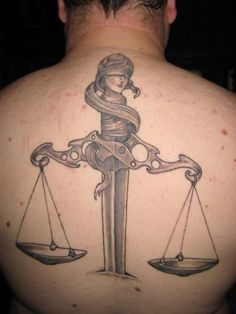 Scales Of Justice Tattoo On Back : Justice Tattoos Head Tattoos, Back Tattoos, Body Art Tattoos, Tattoo Drawings, Tattoos For Guys, Sleeve Tattoos, Cool Tattoos, Lawyer Tattoo, Scales Of Justice Tattoo