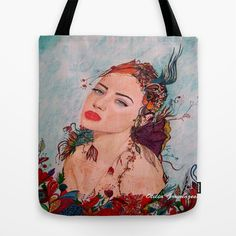 Summer Tote Bag by otilia elena - $22.00 Summer Tote Bags, Reusable Tote Bags