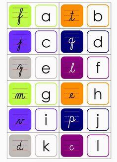 Relentlessly Fun, Deceptively Educational: Free Printable Cursive Dominoes