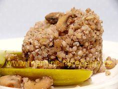 Pohanka zapečená se žampiony Grains, Rice, Beef, Food, Creative, Meat, Essen, Meals, Seeds