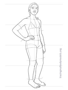 fashion-figure-template-0030 Human Drawing Reference, Human Figure Drawing, Body Drawing, Fashion Figure Templates, Female Body Art, Drawing Templates, Drawing Tutorials, Real Bodies, Figure Poses