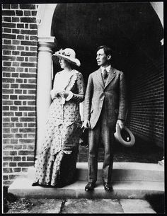 Virginia & Leonard, on their wedding day, 23 July 1912.