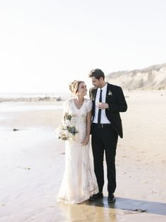 carolyn + chris   Aiguille Gown from BHLDN   @Amy Lyons Lyons Jo Royall photography   via: style me pretty   #BHLDNbride