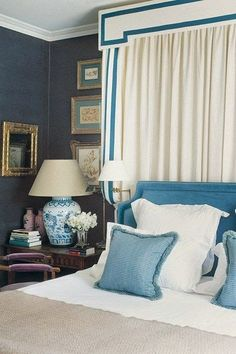 Nightstand & simple bedding  South Shore Decorating Blog: 30 Beautiful Rooms I've Never Seen Before
