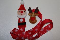 Christmas Edition  Felt Santa Hair Clip Holder by TobyMaMa on Etsy, $7.00