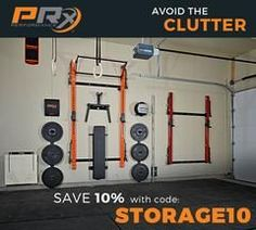 The patented wall-mounted folding Profile® PRO Squat Rack with Kipping Bar™ is revolutionizing the workout space as we know it. Easily transform any garage, hom