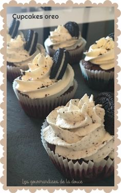Oreo cupcakes - Hello gourmands, Today is school vacancy for us yep, the start of mom I don& know what to do, - Nutella Cupcakes, Oreo Cupcakes, Cupcakes Amor, Oreo Cake, Cupcake Cakes, Homemade Cake Recipes, Best Dessert Recipes, Sweets Recipes, Cupcake Recipes