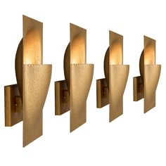 Set of 10 Sculptural Wall Sconces HEIGHT:15.75 in. (40 cm) WIDTH:3.94 in. (10 cm) £565.50 / item