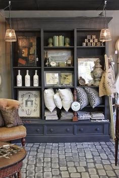French store shelves with great accessorizing ideas!