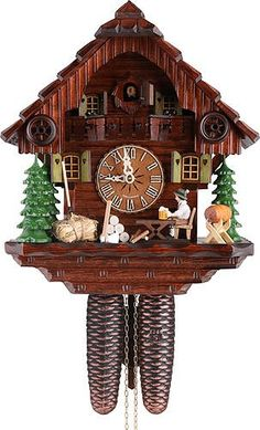 Special Offers - German Cuckoo Clock 8-day-movement Chalet-Style 12.00 inch  Authentic black forest cuckoo clock by Hekas - In stock & Free Shipping. You can save more money! Check It (April 06 2016 at 01:52AM) >> http://wallclockusa.net/german-cuckoo-clock-8-day-movement-chalet-style-12-00-inch-authentic-black-forest-cuckoo-clock-by-hekas/