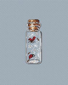 """Бутылочка """"Одуванчик"""". Схема для вышивки крестом. Cross stitch pattern"""