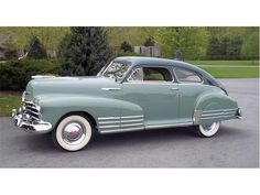 1948 Chevrolet Fleetline Aerosedan  This takes it for my favourite classic car, aside from my VWs. Elegant grille, chrome bands down the side, fantastic fastback shape and dash layout. The two-tone green looks amazing on it