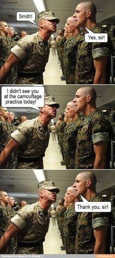 hahaha thats cute! USMC bootcamp is no where near that