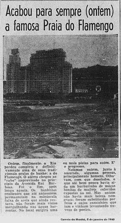 E a Praia do Flamengo da Era Passos chega ao fim - 1960