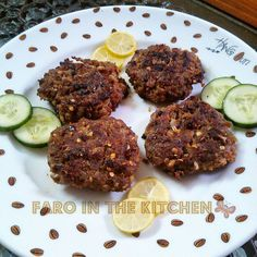 Minced beef cutlets (chappal kabab) ... the spices used in these kababs (cutlets) make them very special