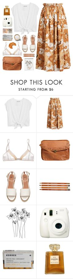 """120517"" by rosemarykate ❤ liked on Polyvore featuring Alice + Olivia, Chloé, Miu Miu, Caffé, Fuji, Korres and Chanel"