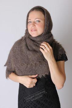 Теплый пуховый платок из Оренбурга 115х115, купить за 3800 руб, ручная работа, артикул ДЯ00СТ-248