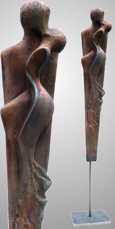 raku-ceramic, copper matt Sculpture   - Artist Edeltrude Arleitner (Graz Austria)