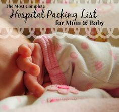 A Complete Hospital Packing Guide for Mom & Baby!