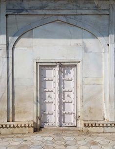 Stone doors, carved doors, Indian doors.... Agra Fort, Agra, India. katiesargentdesign.com Interior Design Studio, Interior Design Services, Agra, India, Doors, Mirror, Travel, Nest Design, Goa India