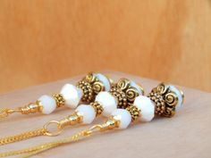 White vintage wedding jewelry white and gold by SheJustSaidYes, $18.00