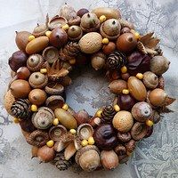 Ornament Wreath, Ornaments, Pine Cones, Christmas Wreaths, Halloween, Holiday Decor, Acorn, Ghosts, Search