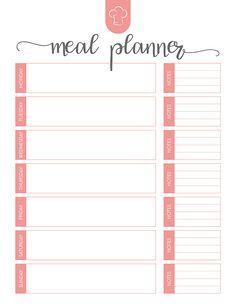 Free Printable Meal Planner Set - The Cottage Market Weekly Menu Printable, Meal Planning Printable, Printable Planner, Weekly Meal Planner Template, Free Meal Planner, Happy Planner, Weekly Dinner Planner, Food Planner, Fitness Planner