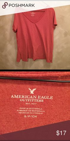 🆕AE Burnt Orange Relaxed V Only worn once or twice. Great condition American Eagle Outfitters Tops Tees - Short Sleeve