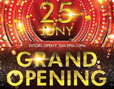 """Check out new work """"Grand Opening PSD Flyer Template"""" #event #party #grand #opening"""