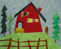 House Quilt Patterns, House Quilt Block, Paper Piecing Patterns, Quilt Blocks, Paper Machine, Foundation Paper Piecing, Barn Quilts, Scrap, Archive