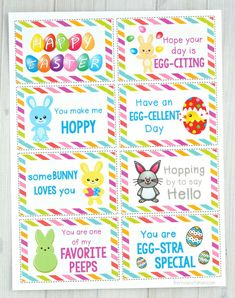 These Easter Lunch Box Notes add a fun little seasonal surprise to your child's lunch. They are sure to brighten up their day and put a smile on your child's face. Easter Jokes, Easter Snacks, Easter Lunch, Kids Lunch Box Notes, School Lunch Box, School Lunches, Box Lunches, Lunch Box Containers, Christmas Lunch