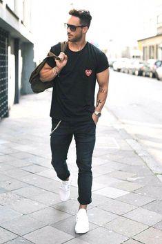6bdee62f67511 Stylish black mens fashion  blackmensfashion Men Style Tips