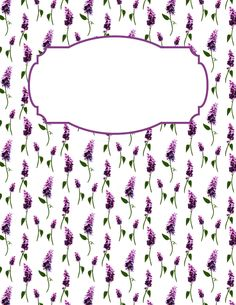 Free printable lilac binder cover template. Download the cover in JPG or PDF format at http://bindercovers.net/download/lilac-binder-cover/