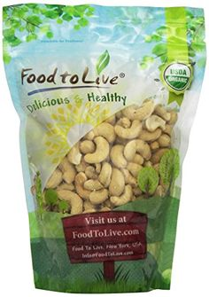 Food to Live Organic Cashews (Whole, Raw) (1 Pound) Food ... https://www.amazon.com/dp/B00HRYDZD6/ref=cm_sw_r_pi_dp_x_6ZOszbXJEZ2YP