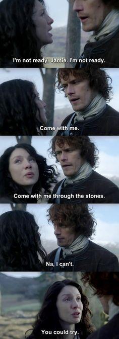 Outlander Season 2 Finale. Jamie & Claire