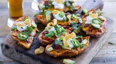 Turn on that slow cooker, and let dinner cook all day with these cozy sweet potato skins!