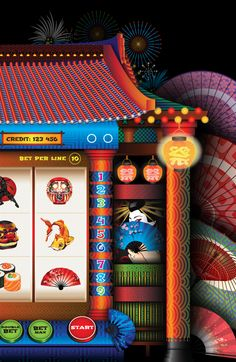"""Banzai"" Slot Game Design on Behance"