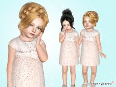 The Sims Resource - TSR Sequin embellished dress by CherryBerrySim - Sims 3 Downloads CC Caboodle