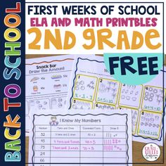 Start the school year with less stress! This back to school free printables includes reading, foundational skills, math, and writing for 2nd grade students at school or homeschooling. Use these resources to review first grade skills while you transition your new second graders into your class. Students will feel success with these free review pages. #2nd grade, #Free2ndgrade #backtoschool #backtoschool2ndgradefree