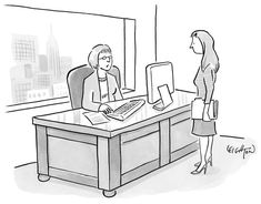 """""""Does this desk make my job look big?"""" Cartoons and Daily Humor: The New Yorker"""