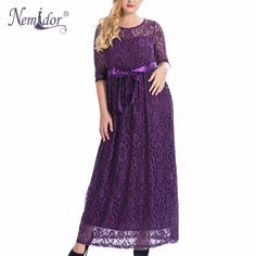 >> Click to Buy << Nemidor High Quality Women Elegant O-neck Party Belted Lace Dress Plus Size 7XL 8XL 9XL Half Sleeve Summer Long Maxi Dress #Affiliate