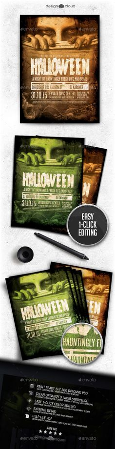 Halloween Event Flyer Template PSD #design Download: http://graphicriver.net/item/halloween-event-flyer-template/12988738?ref=ksioks
