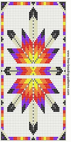 native american beading patterns | free-beading-pattern-wallet-native-american-Lakota-Star