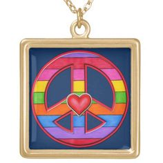 Rainbow-Striped Peace Sign Gold Plated Necklace Diy Father's Day Gifts, Valentine's Day Diy, Fathers Day Gifts, Emo, Peace Sign Necklace, Gypsy, Gold Plated Necklace, Black Felt, Tumblr