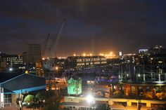 Nightime view of V & A Waterfront