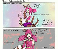 Differents 'bout Nana Mage / Support and Nana Marksman. 😂 (More Killer Indeed) Moba Legends, Mobile Legend Wallpaper, We Bare Bears, Free Hd Wallpapers, Anime Characters, Fictional Characters, League Of Legends, Videogames, Bangs