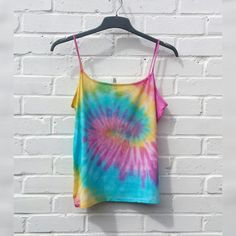 Tie Dye Tank Top Vest to fit UK size 18 or US size 14 Festival Clothes Hippie Yoga Tops by AbiDashery on Etsy